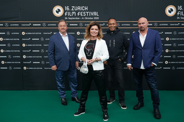 """""""Who you gonna call"""" Photocall - 16th Zurich Film Festival [photograph,stock photography,image,event,award,carpet,competition event,premiere,tennis,team,games,shania twain,fran strine,ola strom,photocall - 16th,photocall,l-r,zurich film festival,fran strine,shania twain,who you gonna call?,2020 zurich film festival,photograph,getty images,image,stock photography,film festival]"""