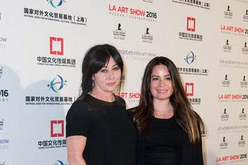 Shannen Doherty Anne Hathaway & Adam Shulman Host LA Art Show & Los Angeles Fine Art Show Opening Night Premiere Party