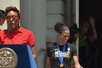 Shannon Boxx New York City Holds Ticker Tape Parade For World Cup Champions U.S. Women's Soccer National Team