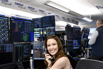 Shannon Elizabeth Annual Charity Day Hosted By Cantor Fitzgerald, BGC, And GFI - Cantor Fitzgerald Office - Inside