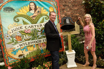 Shannon Miller Guests Enjoy the June Carter Cash Birthday Celebration at The Opening Of The Wildwood Flower Garden