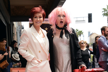 Sharon Osbourne Cyndi Lauper and Harvey Fierstein Honored With Double Star Ceremony on the Hollywood Walk Of Fame