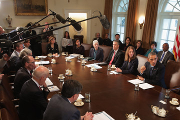 Shaun Donovan Barack Obama Meets with Cabinet Members