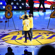 Shawn Stockman Celebrities At The Los Angeles Lakers Game