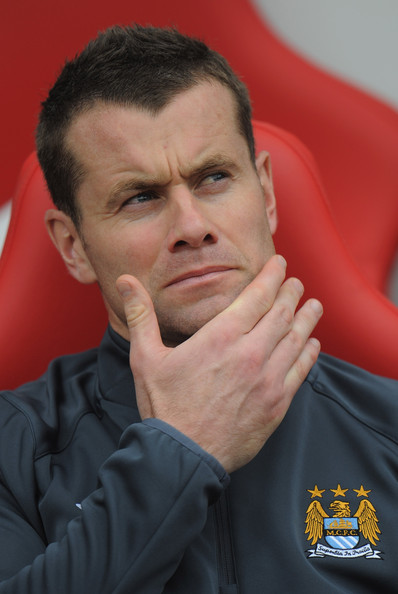 Shay Given Shay Given of Manchester City sits on the bench during the Barclays Premier League match between Sunderland and Manchester City at the Stadium of Light on August 29, 2010 in Sunderland, England.