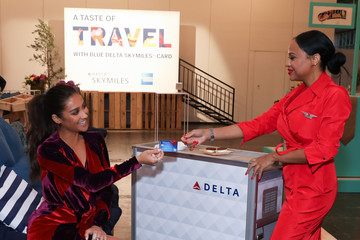 Shay Mitchell American Express and Delta Air Lines a Taste of Travel With #DeltaAmexBlue
