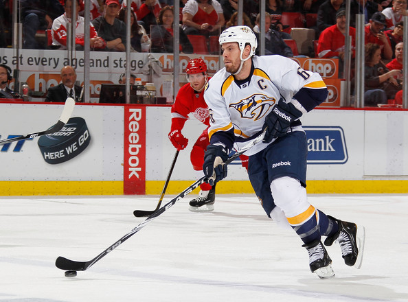 Shea Weber - Nashville Predators v Detroit Red Wings - Game Four