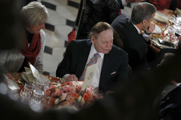 Sheldon Adelson President Donald Trump Attends Inaugural Luncheon