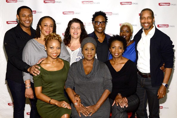"""""""While I Yet Live"""" Press Preview [social group,people,event,premiere,fun,team,family,i yet live,l-r,press preview,billy porter,larry powell,top,lillias white,kevyn morrow,sheryl kaller,s. epatha merkerson]"""