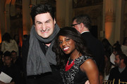 VH1 hosts Rob Shuter (L) and Delaina Dixon attend the Sherri Hill fashion show during Mercedes-Benz Fashion Week Fall 2015  at The Plaza on February 19, 2015 in New York City.