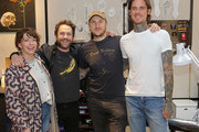 (L-R) Charlie Day, Mary Elizabeth Ellis, Scott Campbell and Nathan Kostechko attend Shinola, Scott Campbell and Nathan Kostechko Mother's Day Celebration on May 12, 2018 in Los Angeles, California.