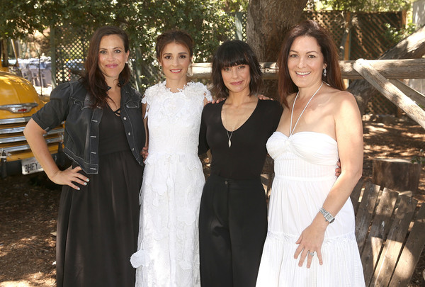Lifetime's 'UnREAL' Cast and Producers Kickoff Summer on a Group Date at Malibu Wines Safari [unreal cast and producers kickoff summer on a group date at malibu wines safari,bride,dress,people,ceremony,wedding dress,event,gown,bridal clothing,bridal party dress,wedding,sarah gertrude shapiro,stacy rukeyser,actors,constance zimmer,shiri appleby,l-r,malibu wines safari,lifetime,unreal cast and producers kickoff summer group date]