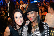 Intern Coach Jen Welter (L) with the Arizona Cardinals attends the 'High Stakes: Mayweather v. Berto' fight presented by Showtime at the MGM Grand Garden Arena on September 12, 2015 in Las Vegas, Nevada.