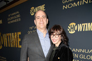 (L-R) Showtime CEO and Chairman David Nevins and wife Andrea Blaugrund Nevins attend the Showtime Golden Globe Nominees Celebration at Sunset Tower Hotel on January 5, 2019 in West Hollywood, California.