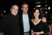 Actor Mandy Patinkin, producer Alex Gansa and his wife Lauren White attend Showtime's Golden Globe nominees cocktail reception at Osteria Mozza on January 14, 2012 in Los Angeles, California.