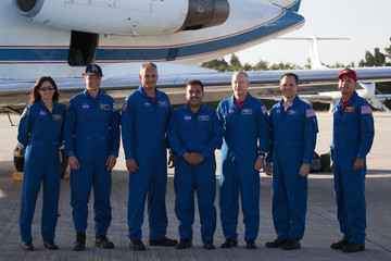Rick Sturckow Shuttle Astronauts Arrive At Cape Canaveral Ahead Of Launch