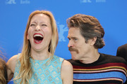 "(L-R) Dounia Sichov and Willem Dafoe poses at the ""Siberia"" photo call during the 70th Berlinale International Film Festival Berlin at Grand Hyatt Hotel on February 24, 2020 in Berlin, Germany."