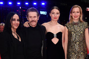 "(L-R) Giada Colagrande, Willem Dafoe, Cristina Chiriac and Dounia Sichov pose at the ""Siberia"" premiere during the 70th Berlinale International Film Festival Berlin at Berlinale Palace on February 24, 2020 in Berlin, Germany."