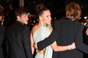 """Gaspard Ulliel and Virginie Efira depart the screening of """"Sibyl"""" during the 72nd annual Cannes Film Festival on May 24, 2019 in Cannes, France."""