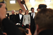 "(L-R) Actors Josh Brolin, Emily Blunt and Benicio Del Toro leave the Premiere of ""Sicario"" during the 68th annual Cannes Film Festival on May 19, 2015 in Cannes, France."