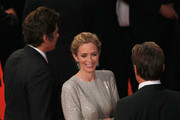 "(L-R) Actors  Benicio Del Toro, Emily Blunt and Josh Brolin leave the Premiere of ""Sicario"" during the 68th annual Cannes Film Festival on May 19, 2015 in Cannes, France."
