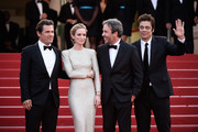 "(L-R) Actors Josh Brolin, Emily Blunt, director Denis Villeneuve and actor Benicio Del Toro attend the ""Sicario""  Premiere during the 68th annual Cannes Film Festival on May 19, 2015 in Cannes, France."