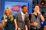 "Actress Sienna Miller, actor Channing Tatum and actor Marlon Wayans visits BET's ""106 & Park"" at BET Studios on August 3, 2009 in New York City."