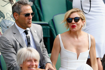 Sienna Miller In Focus: Famous Fans - Celebrities At Wimbledon Day 11
