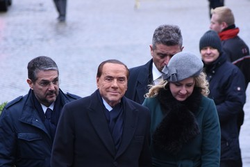 Silvio Berlusconi European Council Leaders Meet in Brussels