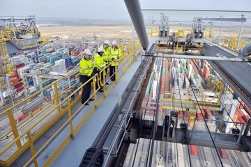 Simon Moore The Duke of Cambridge and Lord Hague Visit London Gateway
