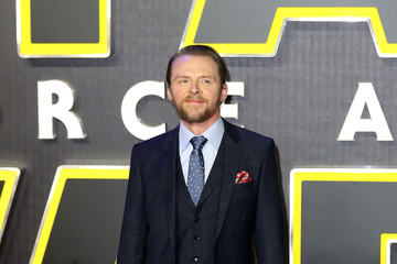 Simon Pegg The European Film Premiere of 'Star Wars: The Force Awakens'