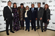 "Bob Santelli, Amanda Lambert Sinatra, Steven Van Zandt, Nancy Sinatra, Tony Bennett, Max Weinberg and Jacqueline Davis attend Jack Daniel's Sinatra Select celebration of the Grammy Museum's ""Sinatra: An American Icon"" at The New York Public Library of Performing Arts on March 3, 2015 in New York City."