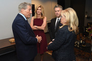"Tony Bennett, Susan Bennett and Nancy Sinatra attend Jack Daniel's Sinatra Select celebration of the Grammy Museum's ""Sinatra: An American Icon"" at The New York Public Library of Performing Arts on March 3, 2015 in New York City."