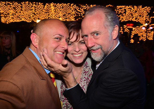 Inside the BritWeek Launch Party [event,interaction,fun,human,facial hair,smile,photography,love,party,nigel daly,actors,siobhan flynn,xander berkeley,l-r,la,residence,britweek launch party,board,bafta]