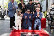Jeff Zarrinnam, Shawn Mendes, Lionel Richie, Donelle Dadigan, Ellen K, Sir Lucian Grainge and Mitch O'Farrell attend the event honoring Sir Lucian Grainge with a Star on the Hollywood Walk of Fame on January 23, 2020 in Hollywood, California.