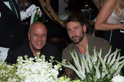 Benny Shabtai and Marko Jaric attend Sir Philip Green Hosts Dinner In Celebration Of Topshop Topman Miami Store Opening at Cecconi's at Soho Beach House on November 18, 2017 in Miami Beach, Florida.