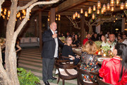 Sir Philip Green speaks as he attends Sir Philip Green Hosts Dinner In Celebration Of Topshop Topman Miami Store Opening at Cecconi's at Soho Beach House on November 18, 2017 in Miami Beach, Florida.