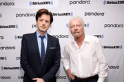 "Sir Richard Branson (R) And SiriusXM's John Fugelsang (L) Special Broadcast Of ""Learning With Richard Branson"" With Guest David Miliband at SiriusXM Studios on September 25, 2019 in New York City."