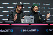 Michael Yo and Kat Graham attend SiriusXM at Super Bowl LIII Radio Row on January 31, 2019 in Atlanta, Georgia.
