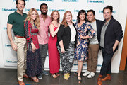 John Riddle, Caissie Levy, Jelani Alladin, Patti Murin, Julie James, Kristen Anderson-Lopez, Robert Lopez and Greg Hildreth take part as SiriusXM on Broadway presents 'Curtain Call with FROZEN The Broadway Musical' featuring conversations with the show's stars and Tony-nominated songwriting team at the SiriusXM Studios on May 24, 2018 in New York City.