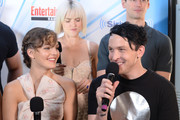 Erin Richards and Robin Lord Taylor attend SiriusXM's Entertainment Weekly Radio Channel Broadcasts From Comic Con 2017 at Hard Rock Hotel San Diego on July 22, 2017 in San Diego, California.