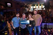 "SiriusXM Host Buzz Brainard and Recording Artists Charles Kelley, Hillary Scott, and Dave Haywood of Lady Antebellum arrive at SiriusXM Hosts Draft Week Party At Margaritaville Featuring The Highway's ""Music Row Happy Hour"" And SiriusXM NFL Radio's ""Movin' The Chains"" on April 24, 2019 in Nashville, Tennessee."