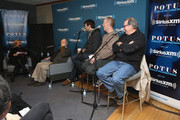 """Julie Mason, Frank Rich, Timothy Simons, Matt Walsh and Kevin Dunn attend SiriusXM's Julie Mason Hosts """"Inside Veep,"""" A Special Event With Veep's Frank Rich, Matt Walsh, Timothy Simons, And Kevin Dunn at SiriusXM Studios on April 8, 2015 in New York City."""