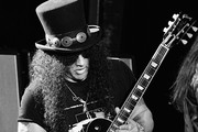 This image has been shot in black and white. Color verson not available) Slash performs onstage at SiriusXM Presents Slash Ft. Myles Kennedy and The Conspirators at Whisky a Go Go on September 11, 2018 in West Hollywood, California.