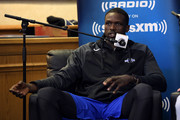 Former Duke basketball player Luol Deng sits down for SiriusXM's Town Hall With Hall Of Fame Coach Mike Krzyzewski at Bill Brill Media Room in Cameron Indoor Stadium on May 31, 2018 in Durham, North Carolina.