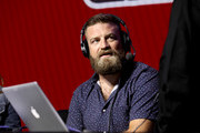 NFL quarterback Ryan Fitzpatrick of the Miami Dolphins speaks onstage during day 3 of SiriusXM at Super Bowl LIV on January 31, 2020 in Miami, Florida.