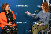 (L-R) Actress Roseanne Barr speaks with SiriusXM host Sandra Bernhard during SiriusXM's Town Hall with the cast of Roseanne on March 27, 2018 in New York City.