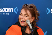 Actress Roseanne Barr speaks during SiriusXM's Town Hall with the cast of Roseanne on March 27, 2018 in New York City.