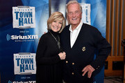 Singers Debby Boone and Pat Boone attend SiriusXM's Town Hall with Pat Boone at Capitol Records Tower on November 22, 2016 in Los Angeles, California.