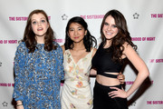 (L-R) Actresses Georgie Henley, Willa Cuthrell-Tuttleman and Kara Hayward attend The Sisterhood Of Night NY Premiere and After Party on April 2, 2015 in New York City.